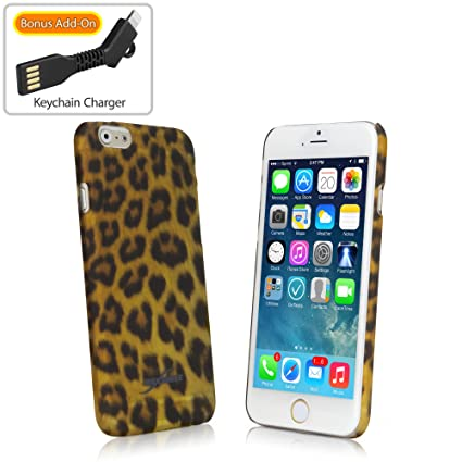 best sneakers d6ddd 50246 iPhone 6s Case, BoxWave® [Fierce Case with BONUS Keychain Charger]  Fashionable Animal Print Protective Shell Case for iPhone 6 / 6s (Leopard)