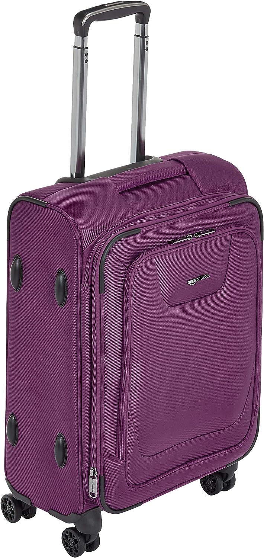 AmazonBasics Premium Expandable Softside Spinner Suitcase Luggage with TSA Lock and Wheels