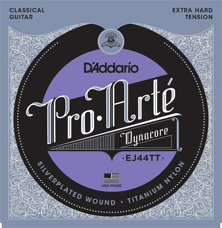 D'Addario EJ44TT ProArte Dynacore Classical Guitar Strings, Titanium Trebles, Extra-Hard Tension D'Addario &Co. Inc