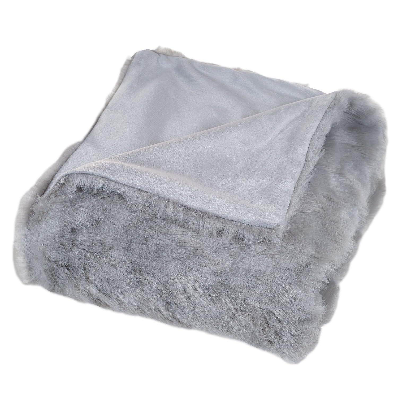 amazoncom lavish home luxury long haired faux fur throw blanket  - amazoncom lavish home luxury long haired faux fur throw blanket blackhome  kitchen