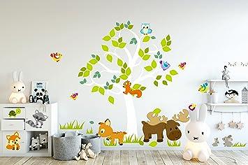madras24 Wandtattoo Kinder Babyzimmer Aufkleber Eule Eulen Tiere ...
