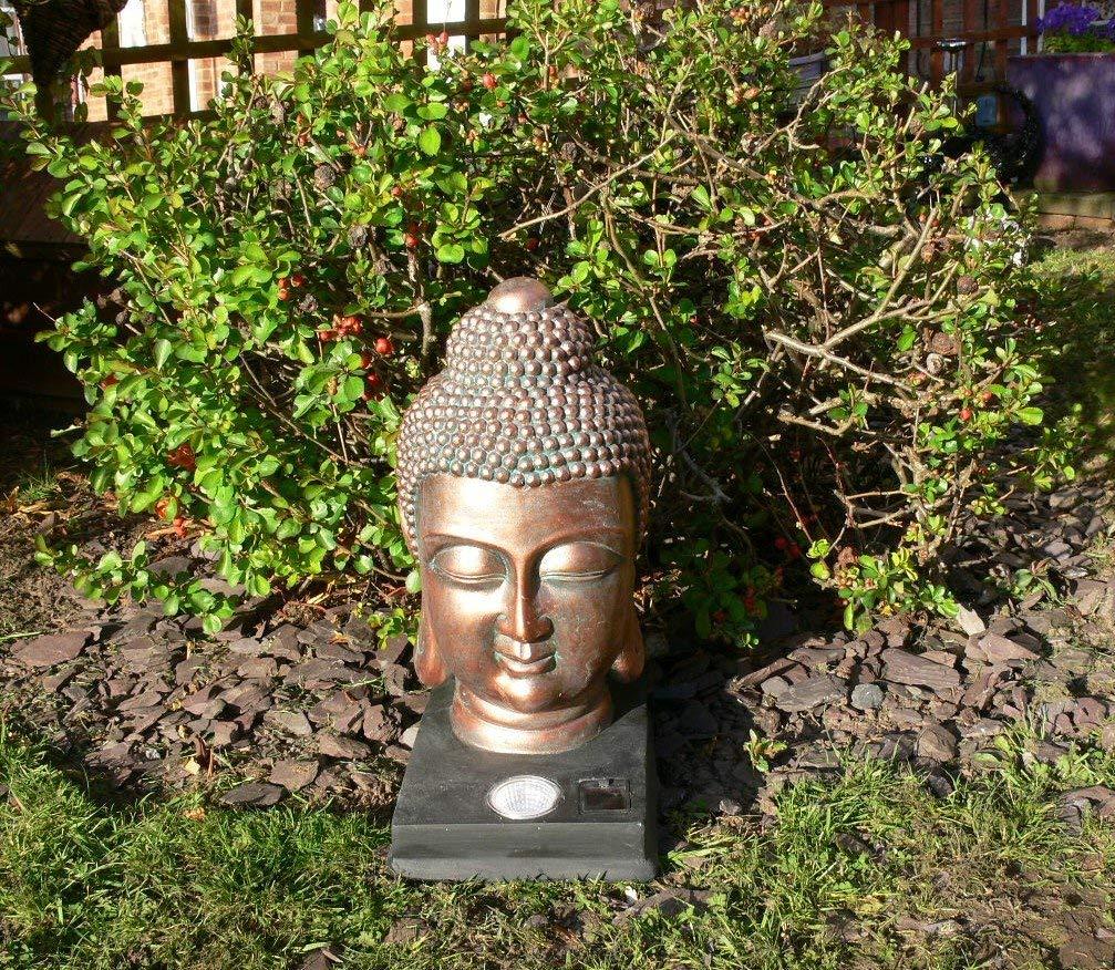 kingfisher Testa di Buddha Solar Light