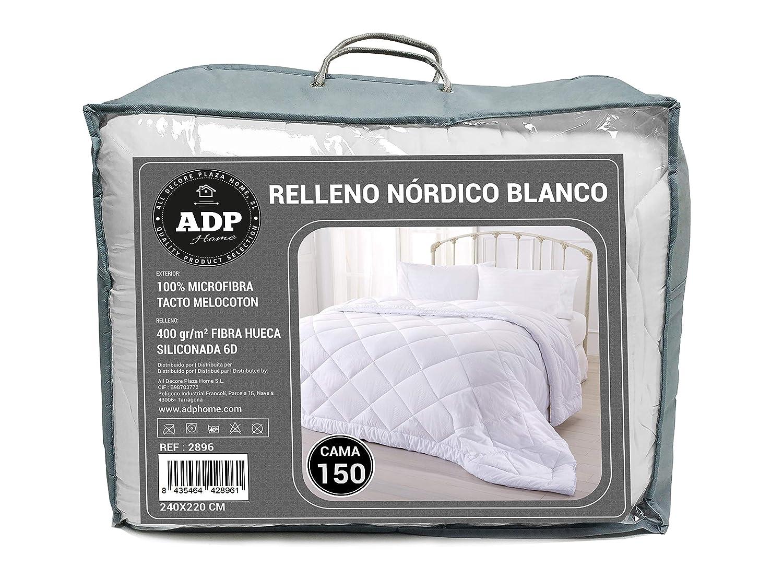 ADP Home - Relleno Nórdico Blanco 400 gr/m2 100% Fibra Hueca ...