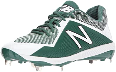 c4383914 New Balance Men's L4040v4 Metal Baseball Shoe, Green/White, 13 2E US