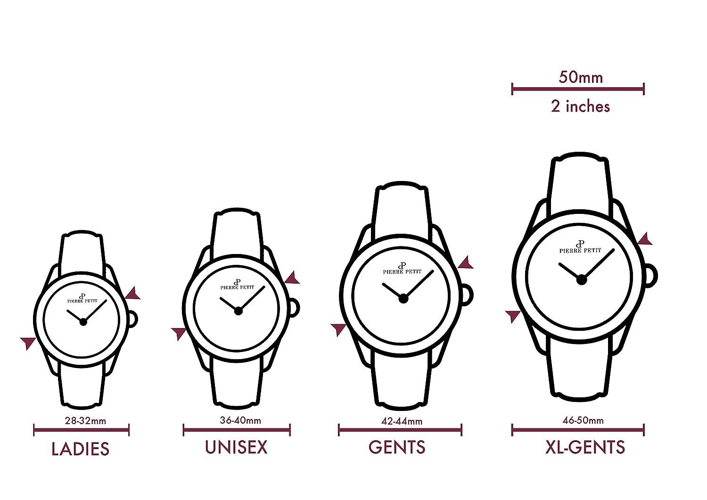 Pierre Petit Damen-Armbanduhr Paris Analog Leder P-779A
