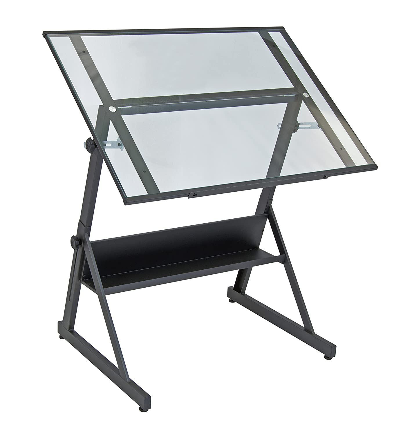 Marvelous Amazon.com: Studio Designs 13346 Solano Adjustable Height Drafting Table,  Charcoal/Clear Glass: Kitchen U0026 Dining