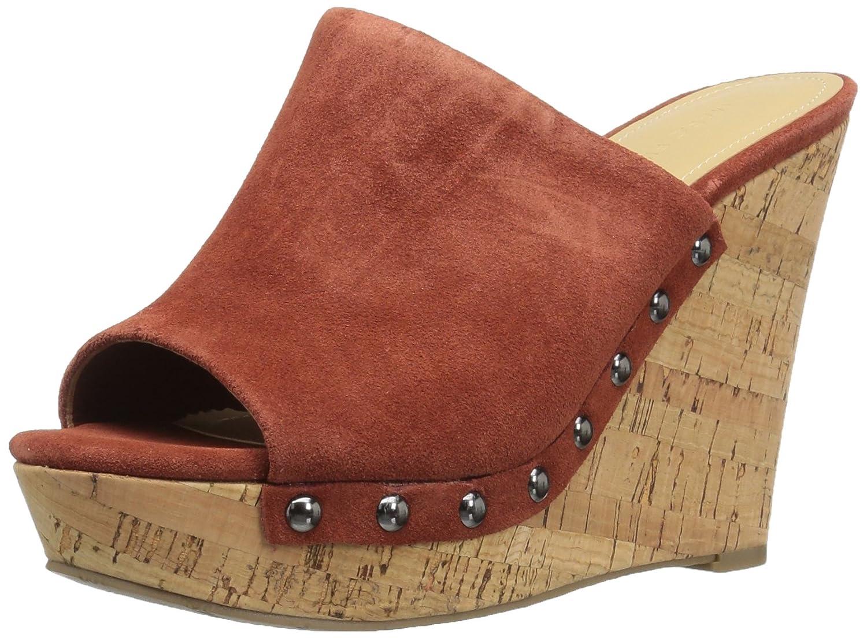 Marc Fisher Women's Henrika Wedge Sandal B06Y1YD8JJ 5 B(M) US|Orange