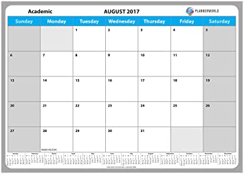 2017/18 ACADEMIC LARGE 13 Month Calendar Planner, A3 Mid Year Wall ...