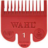 """Wahl Professional Color Coded Comb Attachment #3144-603 – Red #1 – 1/8"""" (3mm) – Great for Professional Stylists and Barbers"""