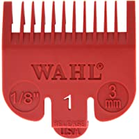 "Wahl Professional Color Coded Comb Attachment #3144-603 – Red #1 – 1/8"" (3mm) – Great for Professional Stylists and Barbers"
