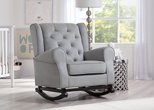 amazoncom delta furniture emma upholstered rocking chair dove grey baby - Rocking Chair Nursery