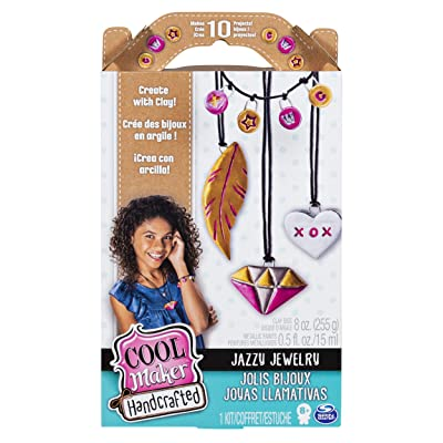 Cool Maker, Handcrafted Jazzy Jewelry Clay Activity Kit, Makes 10 Pieces, for Ages 8 and Up: Toys & Games