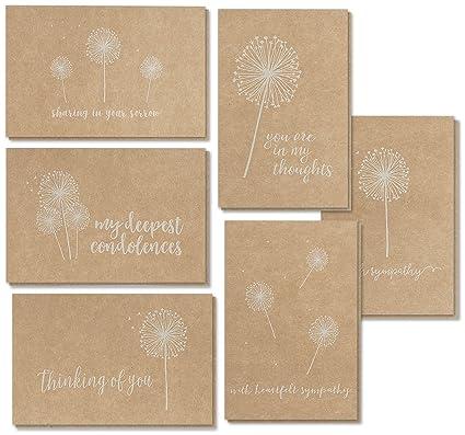 sympathy cards 36 pack sympathy cards bulk greeting cards sympathy kraft paper - Bulk Sympathy Cards