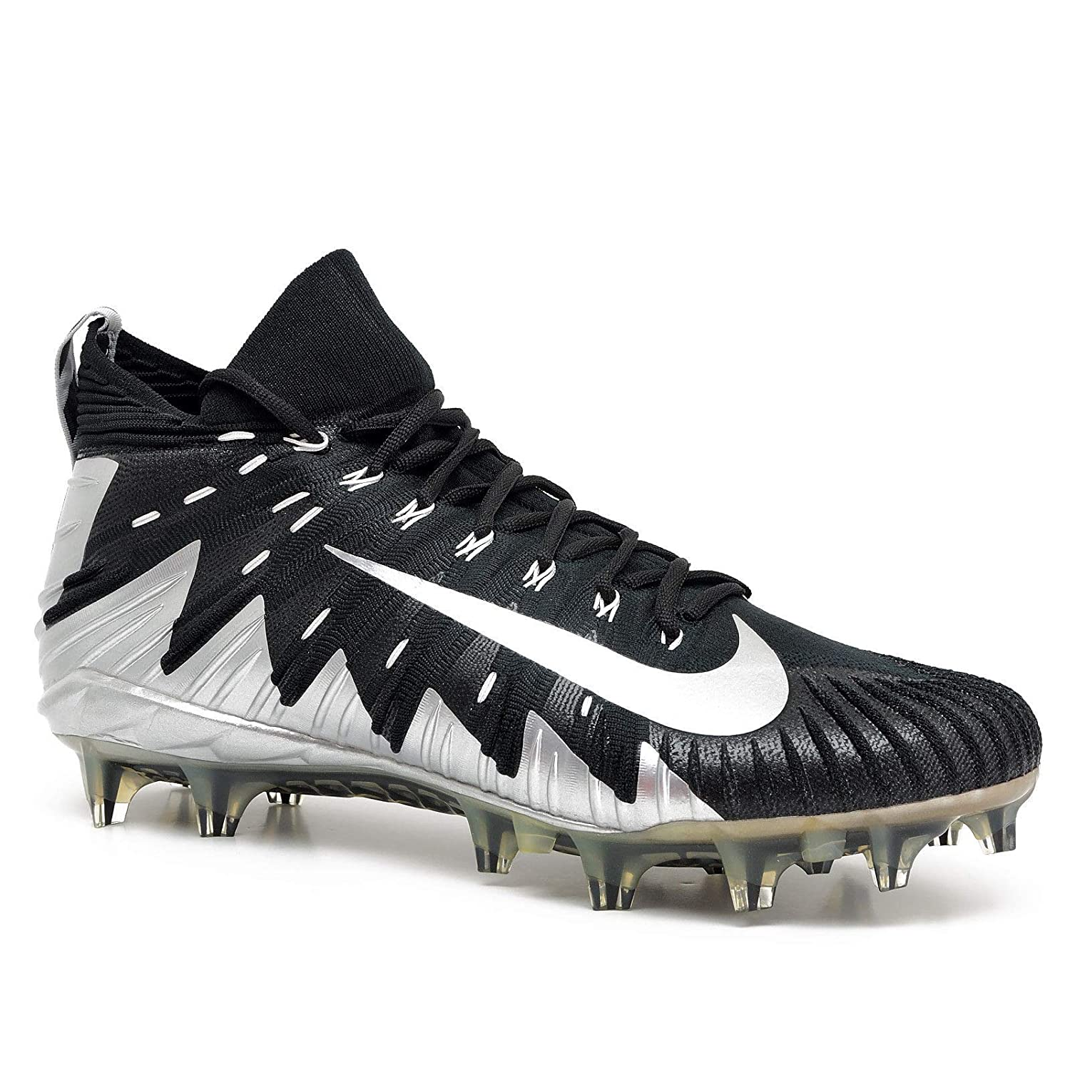 df83cdbe4 Amazon.com | Nike Alpha Menace Elite Black-Silver Men's Football Cleats  12.5 US | Football