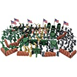 Toy Essentials 225 Pieces Army Playset with Jets Army Soldiers Cannons Missiles