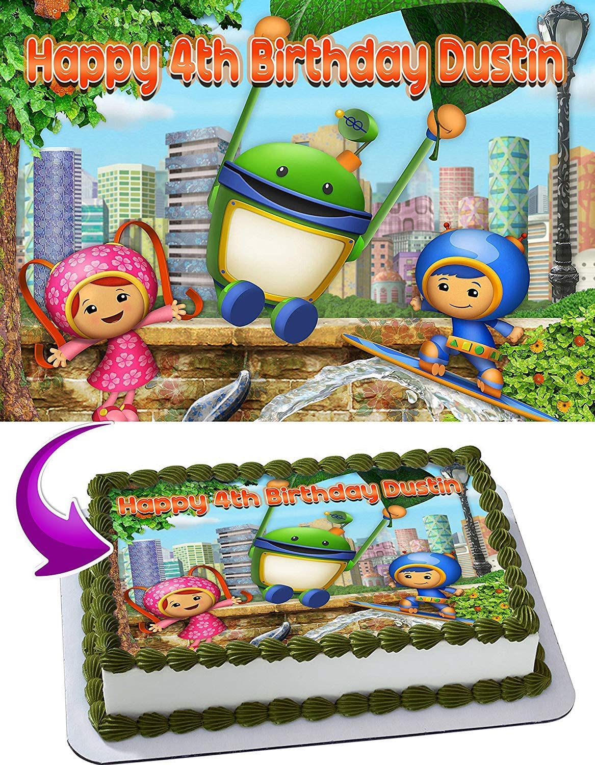Awe Inspiring Amazon Com Team Umizoomi Birthday Cake Personalized Cake Toppers Personalised Birthday Cards Paralily Jamesorg