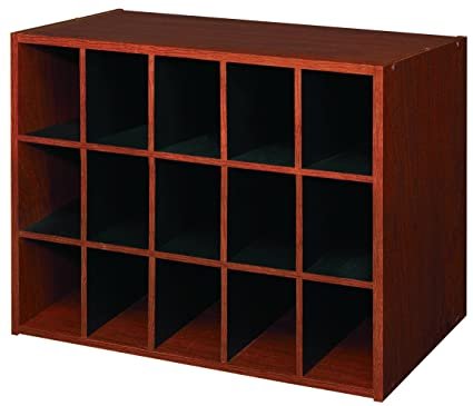 Gentil ClosetMaid 892800 15 Cube Laminate Shoe Organizer, Cherry