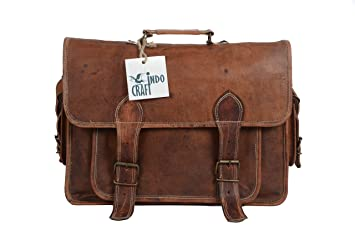 Image Unavailable. Image not available for. Color  Genuine Leather 16 quot  Laptop  Messenger Briefcase Vintage Style ... b7dfff77e9708