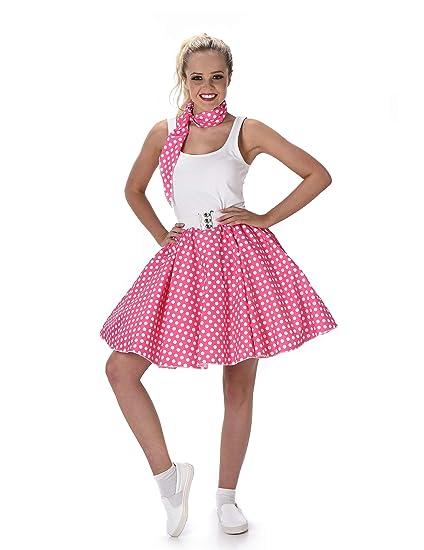 Disfraz años 50 rosa mujer Taille S: Amazon.es: Juguetes y ...