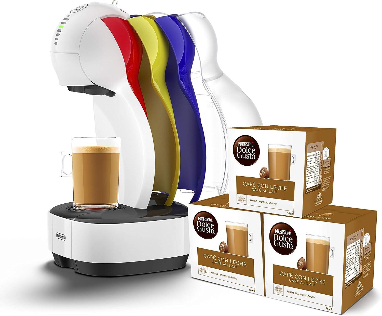 Pack DeLonghi Dolce Gusto Colors EDG355.W1 - Cafetera de cápsulas, 15 bares de presión, color blanco + 3 packs de café Dolce Gusto Espresso Intenso: Amazon.es: Hogar