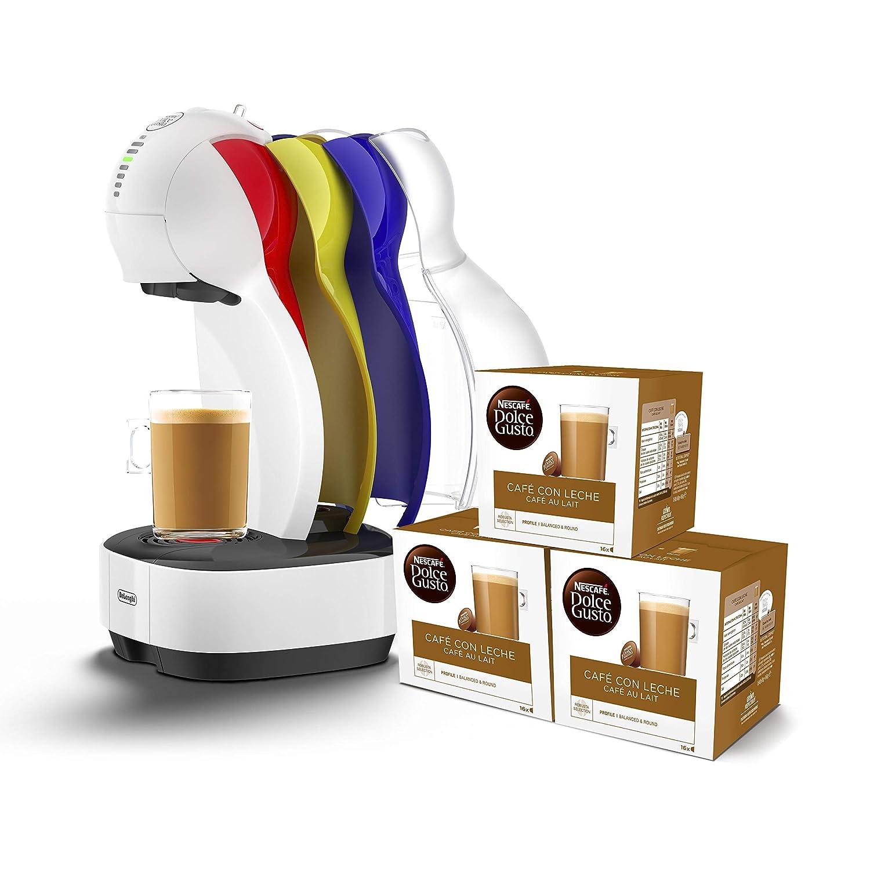 DeLonghi Dolce Gusto Colors EDG355.W1 - Cafetera de cápsulas, 15 bares de presión, color blanco + 3 packs de café Dolce Gusto Café Con Leche: Amazon.es: ...
