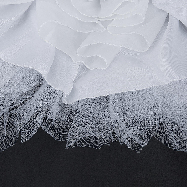 ZeWoo Damen Tutu Unterkleid Kurz Blase Ballett Tanzkleid Ballklei Abendkleid Zubeh/ör