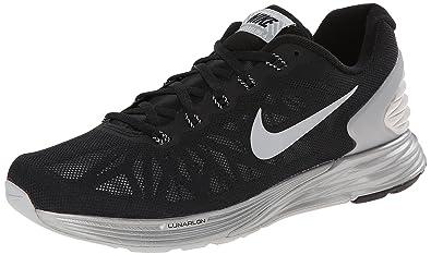 quality design f8547 13f8e NIKE Wmns Nike Lunarglide 6 Flash Womens Running Shoes, Black - Schwarz  (Black