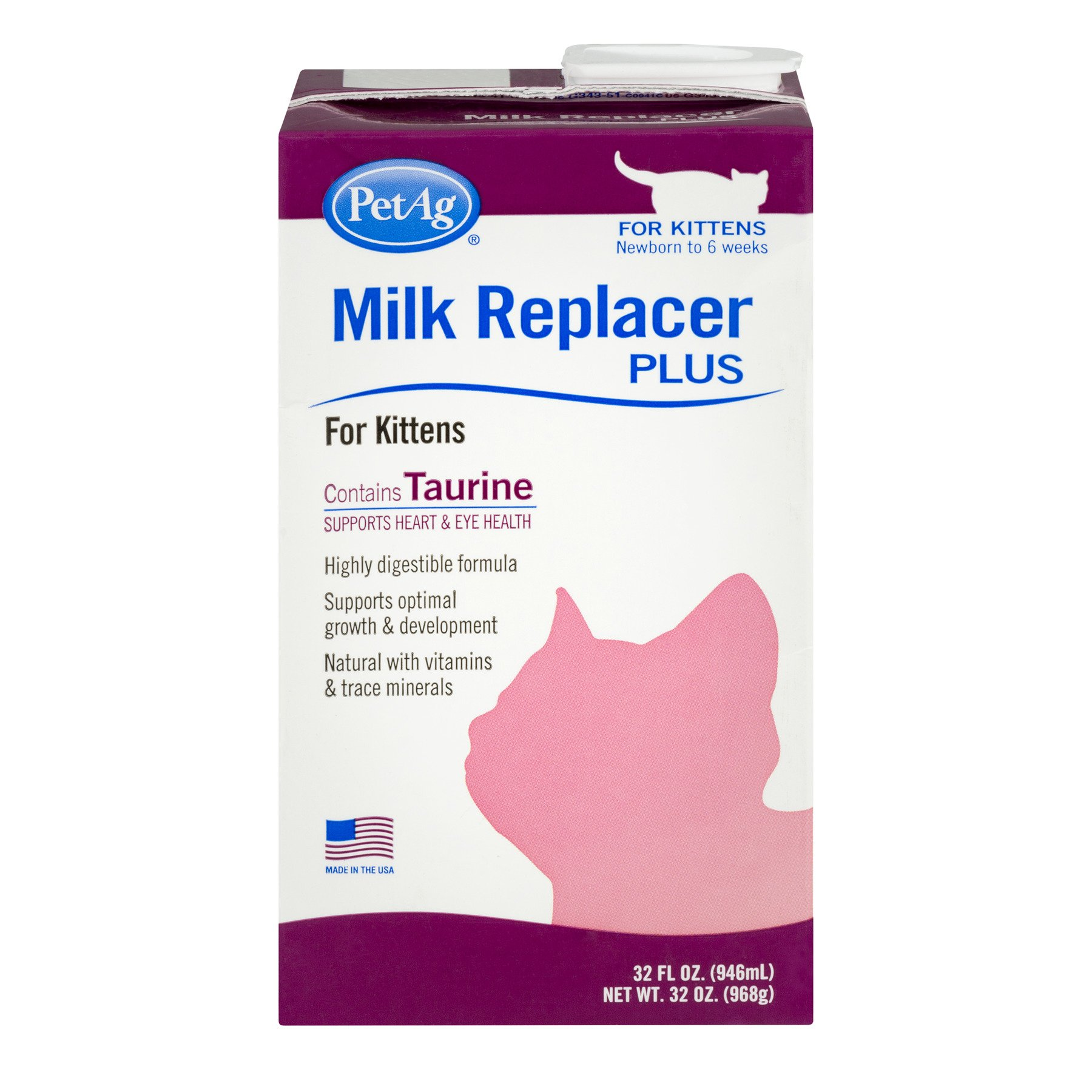 Pet Ag Milk Replacer Plus for Kittens, 32.0 FL OZ by Pet Ag