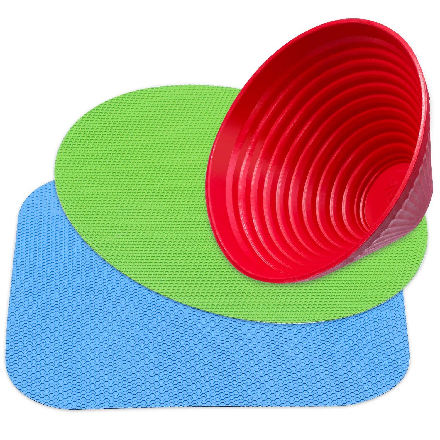 Chuangdi 9 Pieces Rubber Jar Grips Jar Gripper Pad Bottle Lid Opener Kitchen Coasters Multicolored