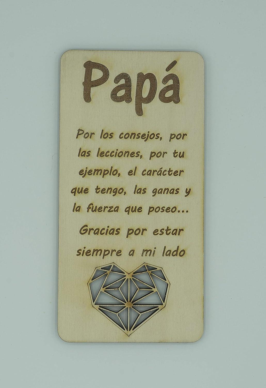 Tarjeta de madera para el día del padre, tarjeta de cumpleaños. Regalo muy especial para papá, tarjeta de felicitación de madera, regalo para el cumpleaños de papá o aniversario
