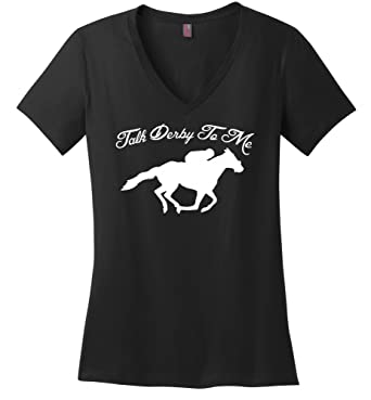 7e882607 Comical Shirt Ladies Talk Derby Me Funny Horse Race, Kentucky Derby Black S