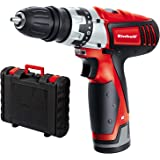 Einhell Perceuse visseuse sans fil TC-CD 12 Li (Li-lon, 12V, 1300 mAh, 20 Nm,2 vitesses, Mandrin amovible monobloc (10 mm), Eclairage LED, Livré en coffret + chargeur rapide)