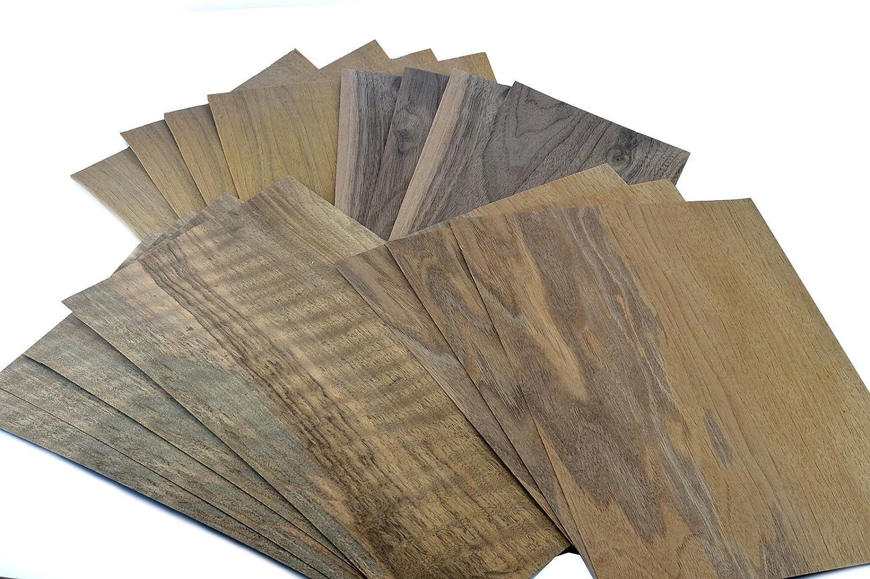 Intarsien zum Basteln Ausbesserungsarbeiten Furniere in der Holzart Nussbaum Restauration Furnier geeignet f/ür: Modellbau
