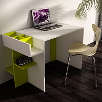 Elenore scrivania bianco verde scrivania da ufficio for Scrivanie ufficio economiche