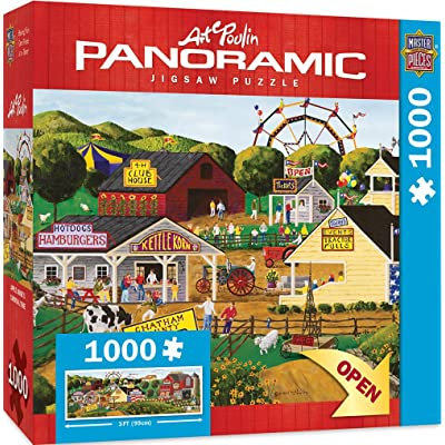 MasterPieces Artist Panoramics Jigsaw Puzzle, Apple Annie's Carnival Time, Featuring Art by Art Poulin, 1000 Pieces: Toys & Games