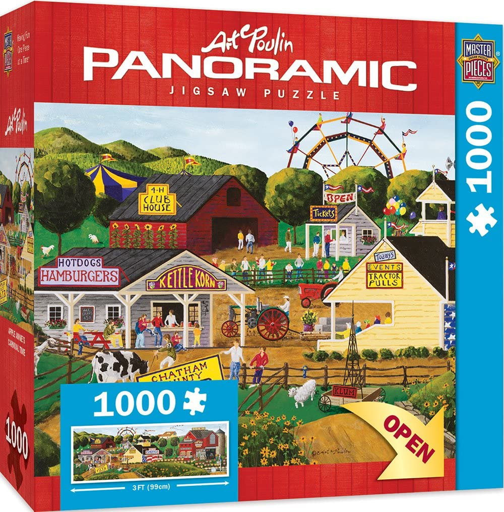 MasterPieces Artist Panoramics Jigsaw Puzzle, Apple Annie's Carnival Time, Featuring Art by Art Poulin, 1000 Pieces