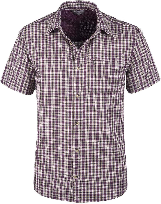 Mountain Warehouse Camisa de algodón Holiday para Hombre Burdeos XL: Amazon.es: Ropa y accesorios