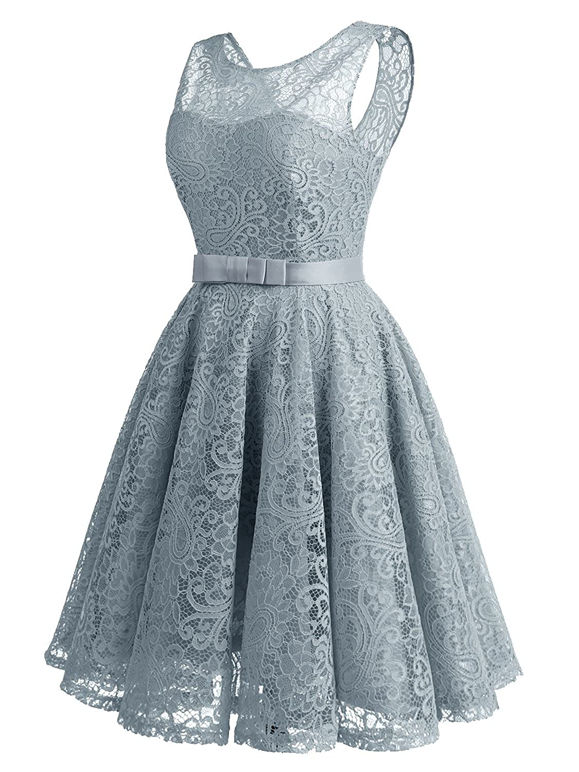IVNIS Women\'s Lace Fit and Flare Cocktail Party Dress A-Line Prom ...