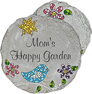 Let's Make Memories Personalized Stepping Stones - Create Custom Garden Stones with Your Name - Durable, All-Weather, Cast Resin - Large 12