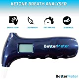 BetterMeter Ketone Meter Ketone Breath Analyzer for Healthy Keto Diet Weight-Loss No Ketone Strips Required