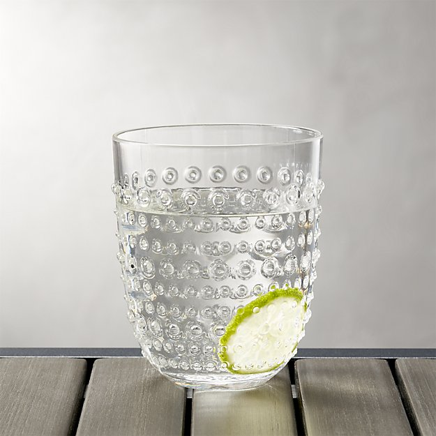 Dottie Clear Acrylic 17 oz. Drink Glass | Crate and Barrel