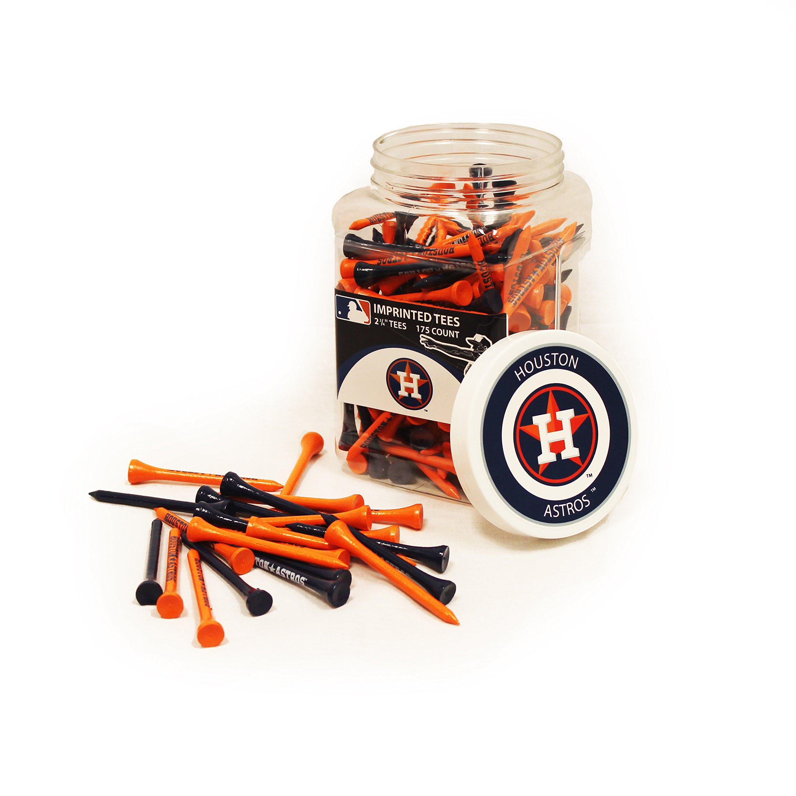 Team Golf MLB Houston Astros 2-3/4'' Golf Tees, 175 Pack, Regulation Size, Multi Team Colors