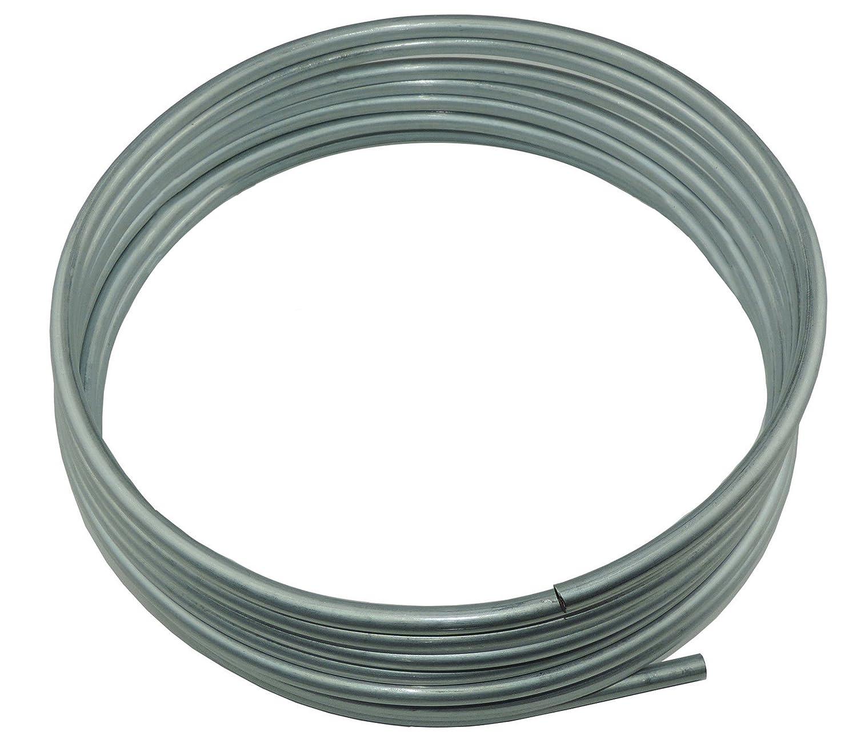 OE Zinc Automotive Steel Brake Fuel Transmission Line Tubing 5/16' OD Coil Roll (L-1-1) Inline Tube