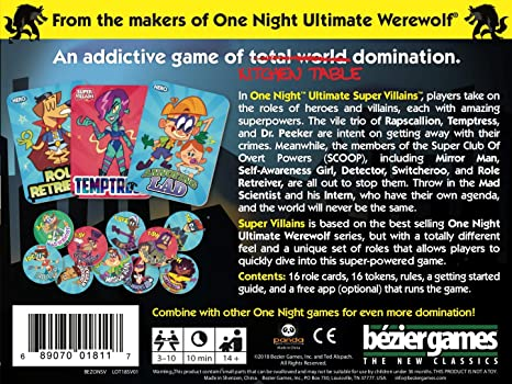 One Night Ultimate Super Villains: Amazon.co.uk: Toys & Games