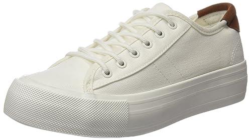 Springfield 5.T.Flatform BS Canvas Blanco, Zapatillas para Mujer, Beige (Ivory), 41 EU: Amazon.es: Zapatos y complementos