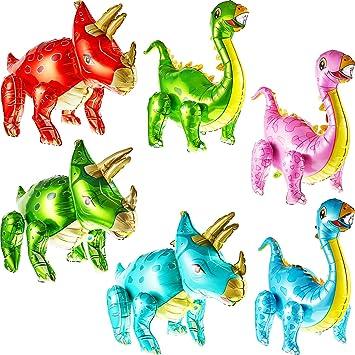 6 Piezas Globos de Dinosaurios en 3D Dinosaurios de Aluminio ...