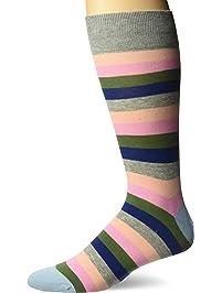 66d668d9ebdf Hot Sox mens Novelty Geometric Pattern Crew Socks Casual Sock