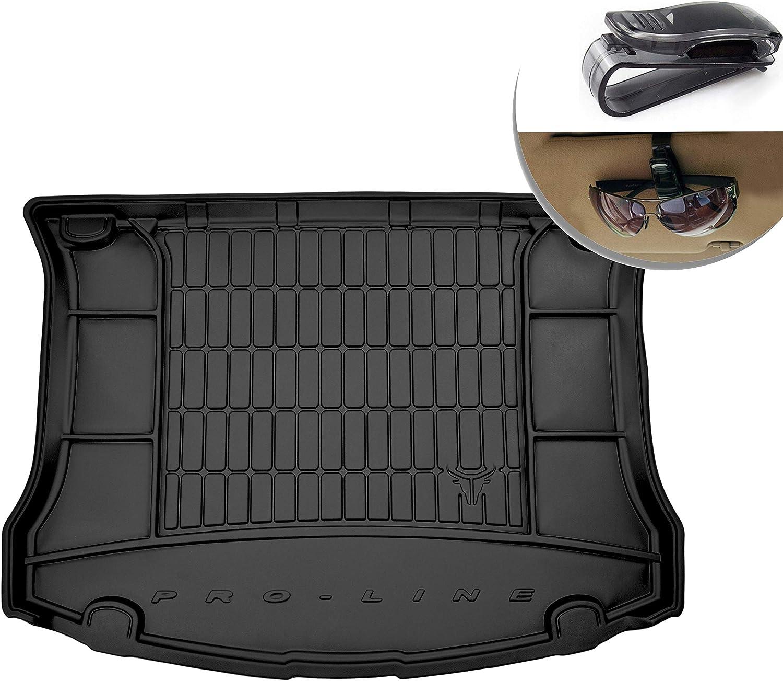 Alfombrilla de Goma 3D Inserto Flexible para el Maletero del autom/óvil 1 Pieza de Goma el/ástica Negra El tapete se Adapta Perfectamente para Ford Kuga I 2008-2012