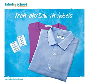 Iron On Or Sew In Name Labels For School Home Sports Belongings