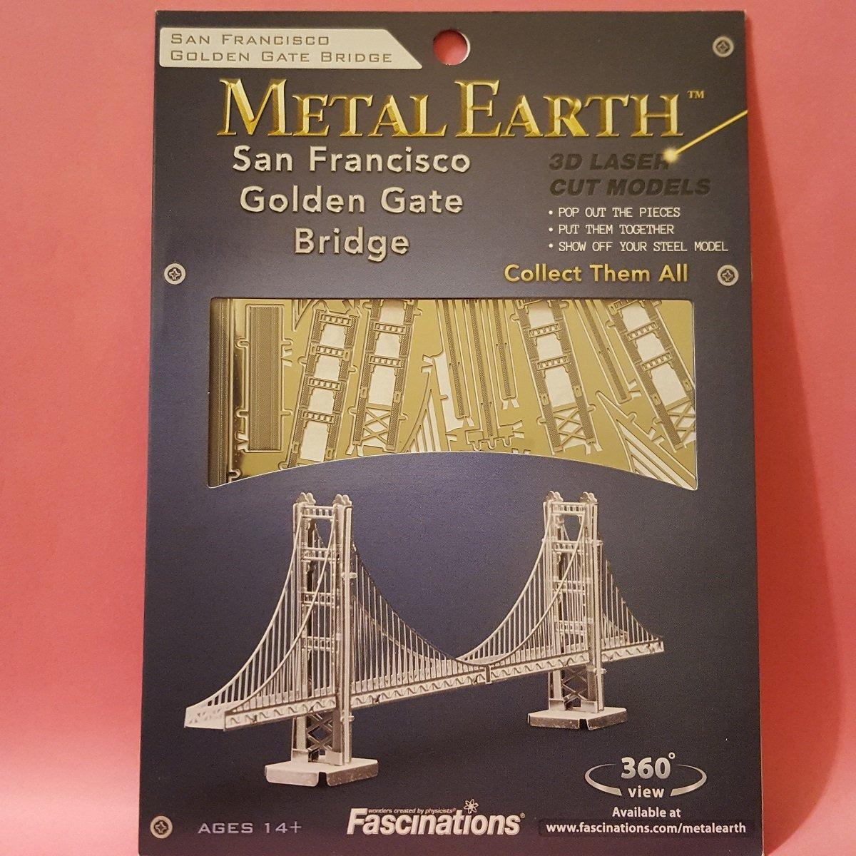 Metal Earth puzzle di metallo Fascinations San Francisco Golden Gate Bridge 3D metal puzzle